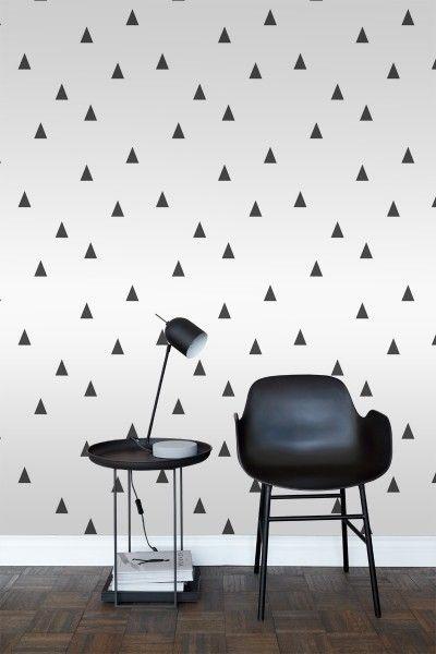 Papier Peint Triangles Graphiques Noir Et Blanc 138942 Papier