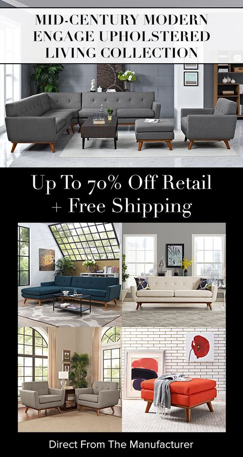 Shop mid-century modern living collections at LexMod.com
