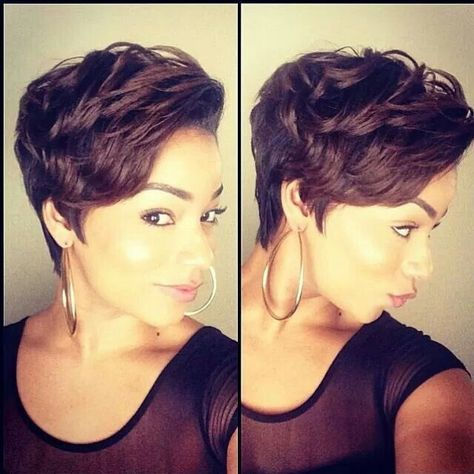 Cute style - http://www.blackhairinformation.com/community/hairstyle-gallery/relaxed-hairstyles/cute-style-2/ #pixie #haircut