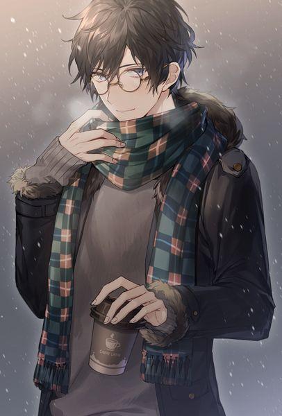 Anime Male Glasses : anime, glasses, Dippel, Megane, Anime, Glasses, Guys,, Characters