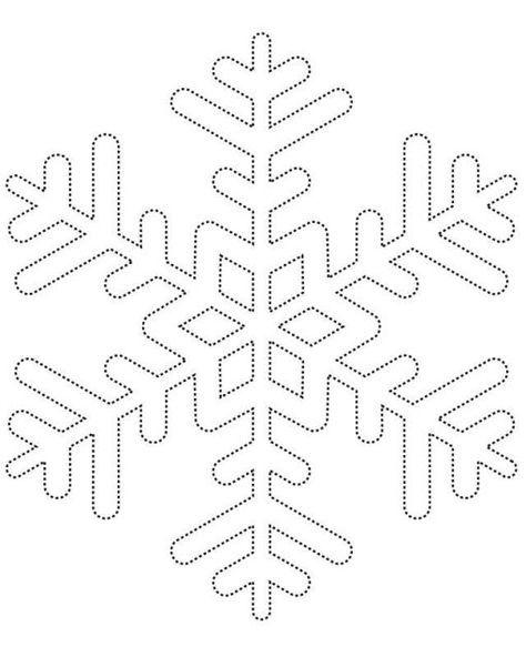 Copos Y Figuras Navidenas Con Pegamento Copos De Nieve Plantilla De Copo De Nieve Manualidades Navidenas