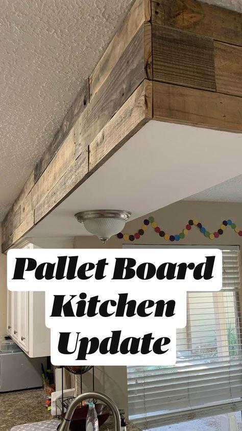 Pallet Board Kitchen Update