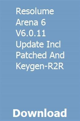 Resolume Arena 6 V6 0 11 Update Incl Patched And Keygen-R2R download
