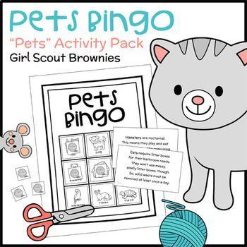 Pets Bingo - Girl Scout Brownies -