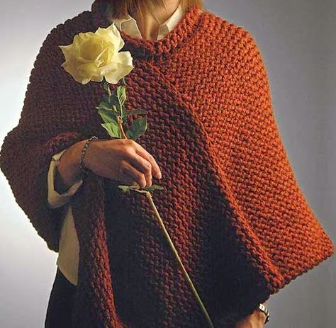 Patrón Knifty Knitter Poncho