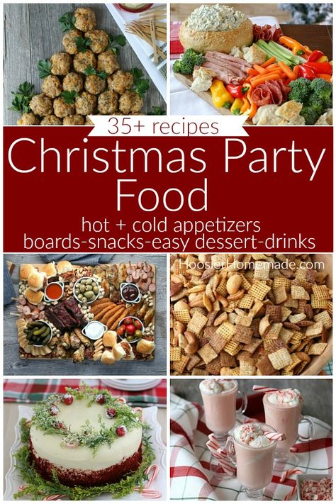 Christmas Party Food | Over 35 recipes including Hot Appetizers, Cold Appetizers, Charcuterie Boards, Snacks, Easy Party Desserts and Drinks #christmaspartyfood