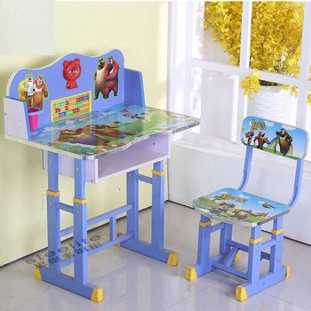 Kids Table And Chairs Small Cartoon Drawing Painted Kids Study Table Kids Table And Chairs Kid Table
