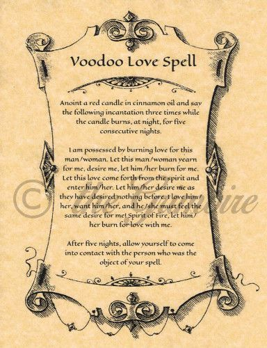VOODOO Love Spell, Book of Shadows Spell, Witchcraft, Wiccan