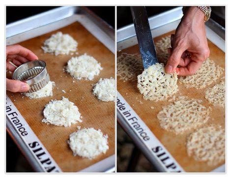 Parmesan Crisps. Sort of looks like snowflakes?