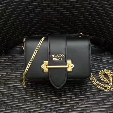 d9730a734d4c Prada Cahier Calf Leather Fanny Pack Bag 1BL004 Black 2017
