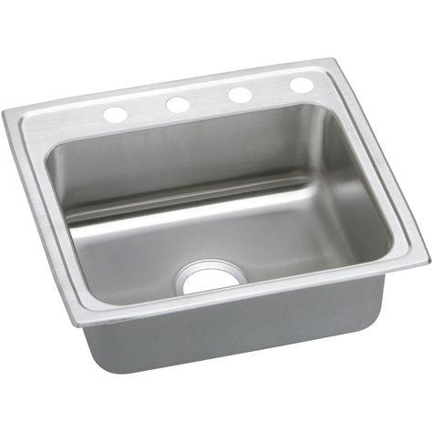 elkay gourmet 19 5 in x 22 in single basin stainless steel drop in 4 rh pinterest fr