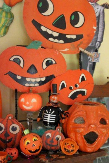 55 Beautiful Vintage Halloween Decoration Ideas