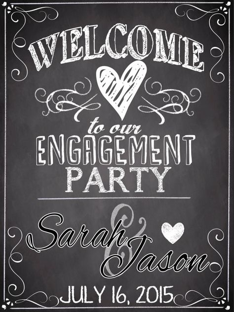 Engagement Party Sign by CustomPrintablesNY