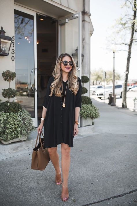 The essential black dress zomerse werkoutfits, zomerse leraar outfits, lera