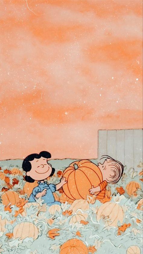 peanuts pumpkin aesthetic wallpaper