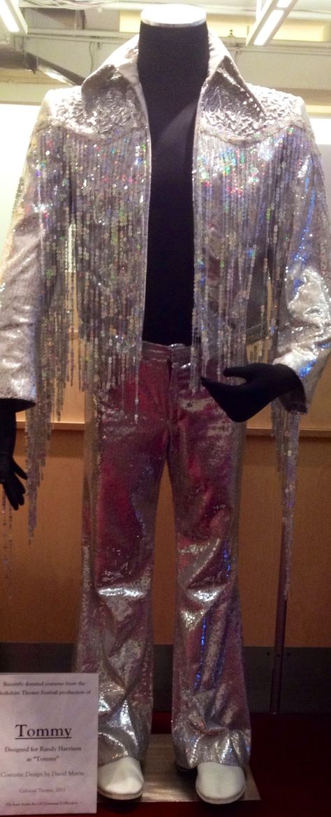 """Designed by David Murin for the 2011 production of """"Tommy"""" at the Berkshire Theater Festival (Berkshire Theater Group) #costume #costumedesign #sequins #sparkle"""
