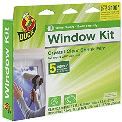 Duck Brand Indoor 5 Window Shrink Film Insulator Kit 62 Inch X