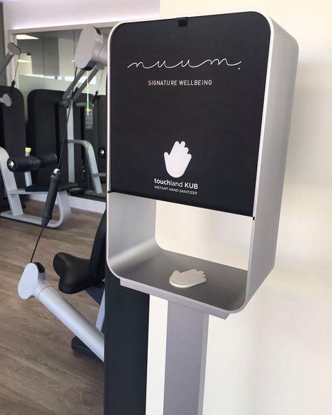Customized Touchland Kub Touchless Sanitizer Dispenser Office Decor