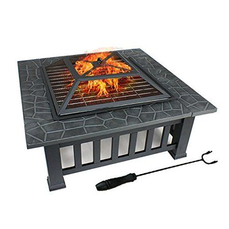 Patio Garden Wood Burning Fire Pit Square Fire Pit Cool Fire Pits