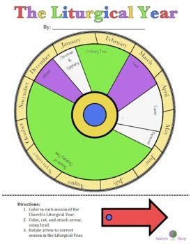 Free Printable Catholic Liturgical Calendar : printable, catholic, liturgical, calendar, Liturgical, Calendar, Wheel, Calendar,, Catholic, Crafts,