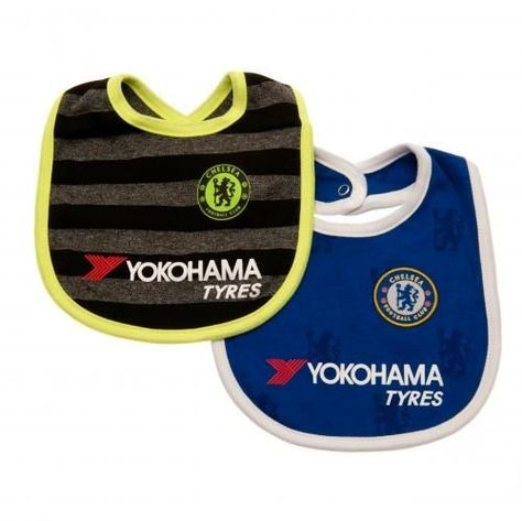 Super cute two pack of Chelsea FC bibs in the current home and away colours and…