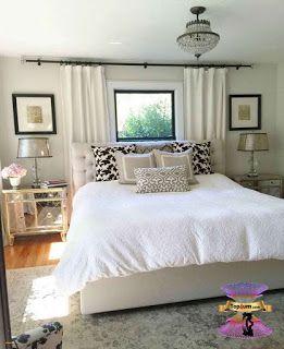 ديكورات غرف نوم بنات مراهقات روعة بالصور 2020 Small Master Bedroom Master Bedrooms Decor Window Behind Bed