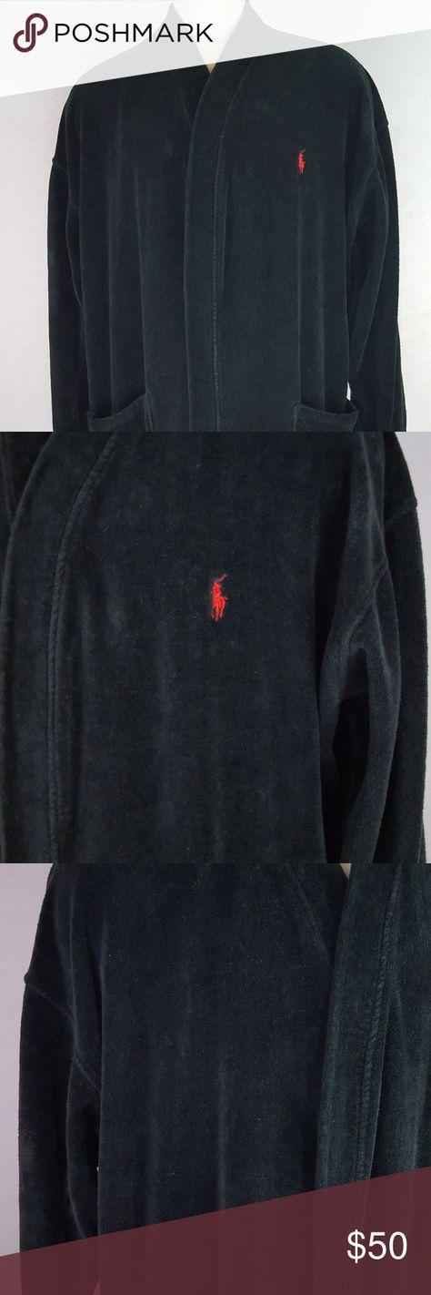 Polo Ralph Lauren Black Bathrobe L XL Mens Solid R Polo By Ralph Lauren  Men s Robe L  4c5d58bd7