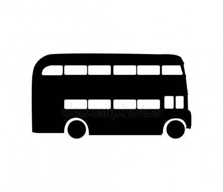 Black Double Decker Bus Silhouette Stock Vector Ad Decker Double Black Bus Ad Double Decker Bus Decker Bus
