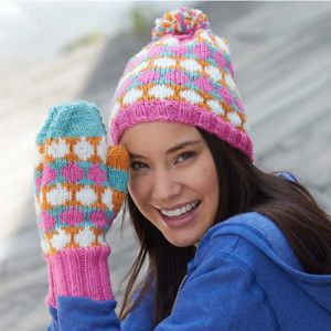 6d1f819721a Don t be caught out in the cold without your very own Polka Dot Hat and  Mittens. Learn how to knit a hat that s absolutely adorable