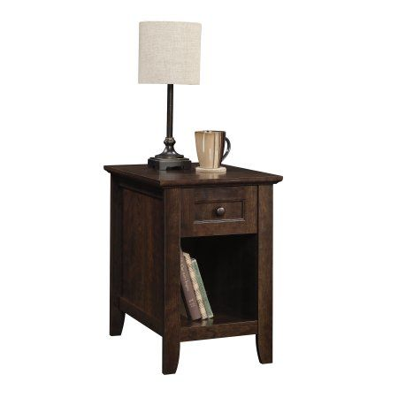 Better Homes Gardens Parker Recliner Side Table Estate Toffee Finish Brown Better Homes Side Coffee Table Home Garden