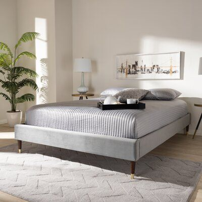 Everly Quinn Malani Glam Upholstered Platform Bed In 2020