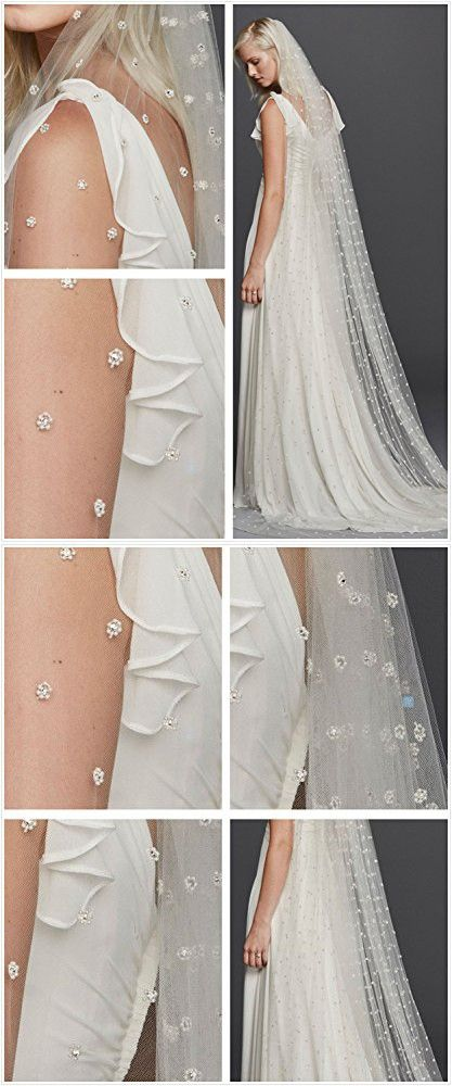 Eliffete 2T Lace Wedding Bridal Veil 3M Long Cathedral Veil for Brides with Comb