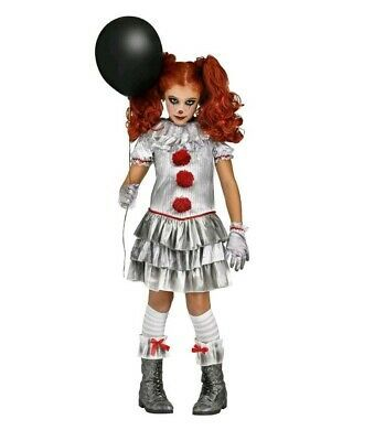 Clown Halloween Costumes For Girls.Ebay Sponsored Pennywise It Halloween Costume Carnevil Clown Girl Child Kid 10 12 Youth Large Kids Costumes Girls Clown Costume Clown Halloween Costumes