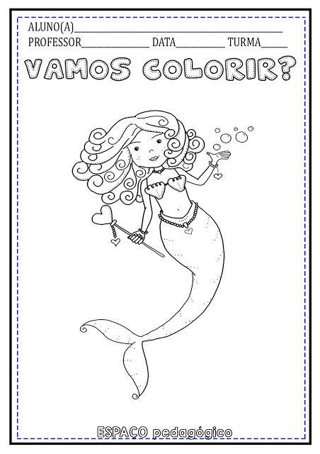 Desenhos De Folclore Para Pintar Ou Colorir A Lenda Da Iara Ou