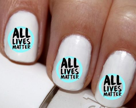 20 Pc All Lives Matter We Need Peace Nail Art Nail Decals Nail