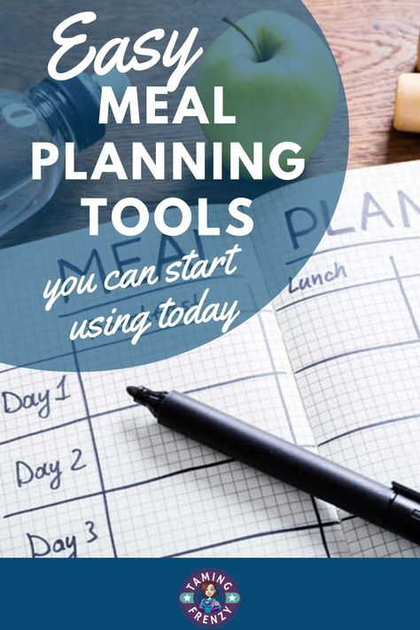 """Meal planning doesn't have to be complicated and it has many benefits. But beginners often think that meal planning will take lots of time, require fussy systems, and make dinner time boring. The truth is that having a weekly meal plan makes dinner time more enjoyable because you've always got an answer to the """"What's for dinner?"""" question. #mealplanning #getorganized #organizedkitchen"""