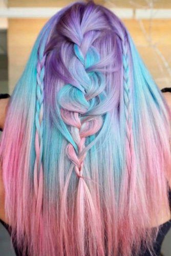 24 Blue And Purple Hair Looks That Will Amaze You Ombre Hair Ombre Hair Color Blue And Pink Hair