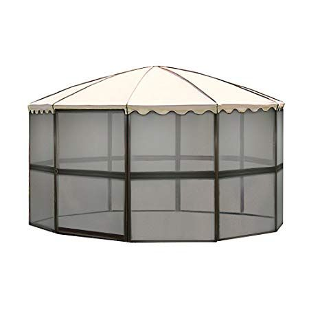 Casita 10 Panel Round Screenhouse 3165 03165 Brown With Almond Roof Canopy Canopy Canopies For Sale Paneling