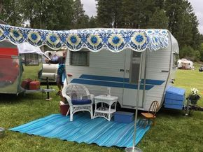 Where Do I Buy A Vintage Camper Awning Cecilia The Shasta Camper Awnings Vintage Camper Vintage Trailer Remodel
