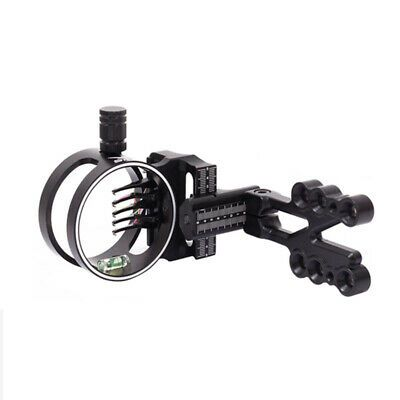 New Compound Bow Sight 5 Pin Archery Micro Adjustable Ultra Light Aluminum Alloy Compound Bow Sights Bow Sights Compound Bow