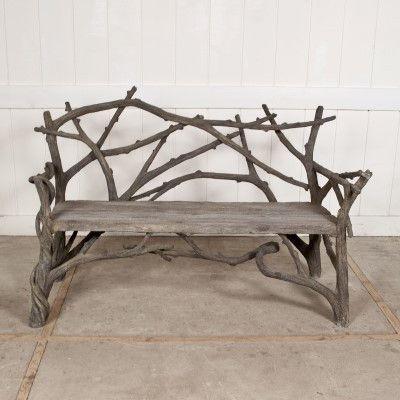 Faux Bois Vine Twig Bench | Treillage | Garden | Pinterest | Faux Bois,  Bench And Twig Furniture
