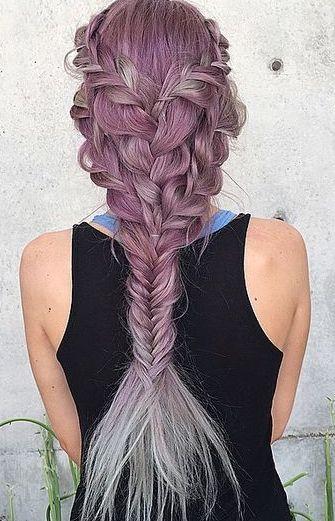 Pink Mermaid Braid Hair Styles Long Hair Styles Mermaid Hair
