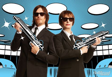 Gale Anne Hurd and Norman Reedus in 'Men in Black' The Walking Dead producer Gale Anne Hurdand starNorman Reeduspulled out the big guns