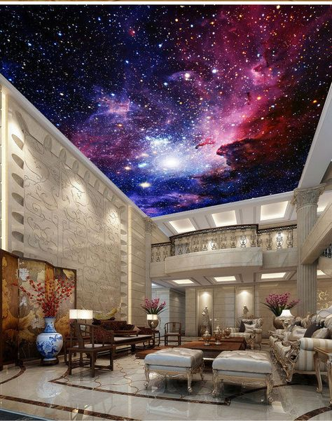 Galaxy Nebula Outerspace Ceiling Wall Mural Wall paper Decal Wall Art Business #Unbranded