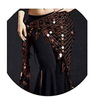 Women Belly Dance Clothes Sexy Big Sequins Belly Dance Scarf