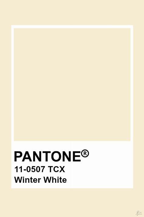 Pantone Winter White