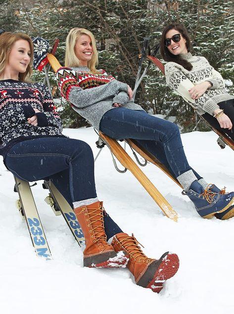 Classy Girls Wear Pearls - skiing