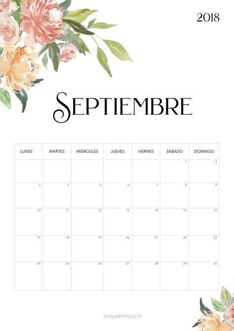 Calendario De Septiembre 2019 Para Imprimir Animado.Calendario Para Imprimir 2018 2019 Calendario 2019