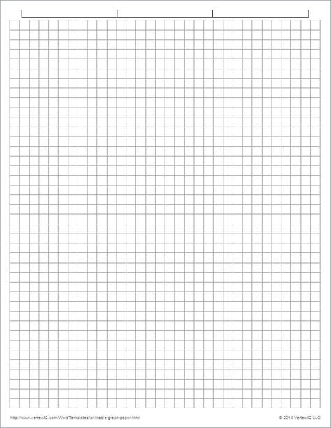 Download the Graph Paper Template - 1/4 Inch Grid from Vertex42.com