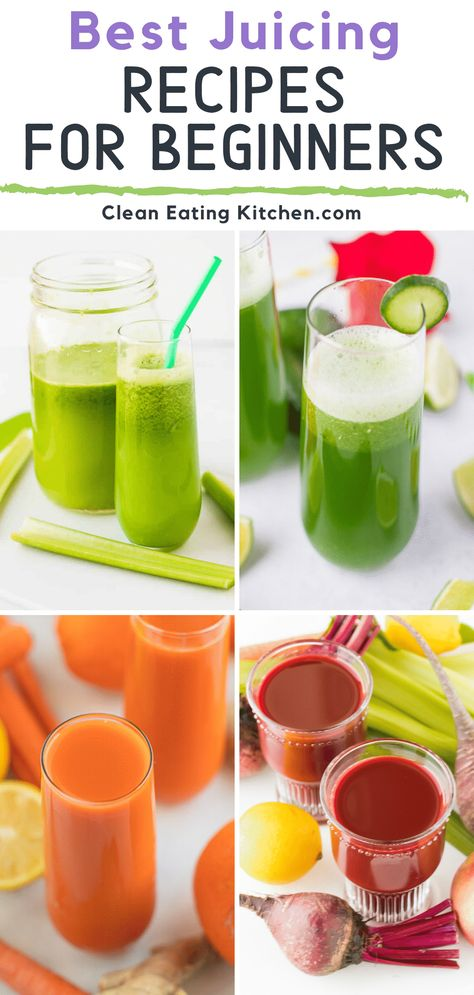 If you're looking for some easy juicing recipes you're going to love this round-up of celery juice cucumber juice carrot juice and more. I've also included tips for beginners thoughts about juice cleansing and which is the best juicer to use. Healthy Juicer Recipes, Best Juicing Recipes, Fresh Juice Recipes, Celery Recipes, Juice Cleanse Recipes, Blender Recipes, Healthy Juices, Carrot Juice Recipes, Pregnancy Juicing Recipes